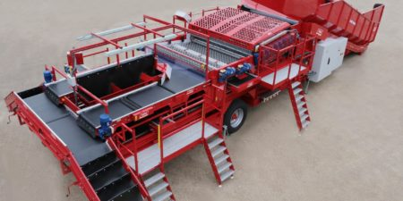 Potato Sizing with Tong's advanced Caretaker Mobile Sizer