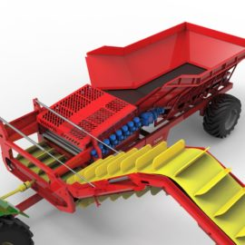 Tong's new Dirt Eliminator Loader trailer makes in-field handling loads more efficient!