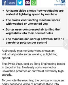 Daily Mail Visar Sortop Potato Optical Sorter Article (1)