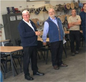 Brian Grant 50 years service Tong Engineering